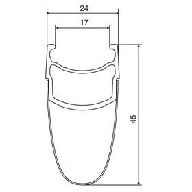 Mavic Cosmic Pro Carbon Exalith 17 Laufradsatz Shimano 25 schwarz